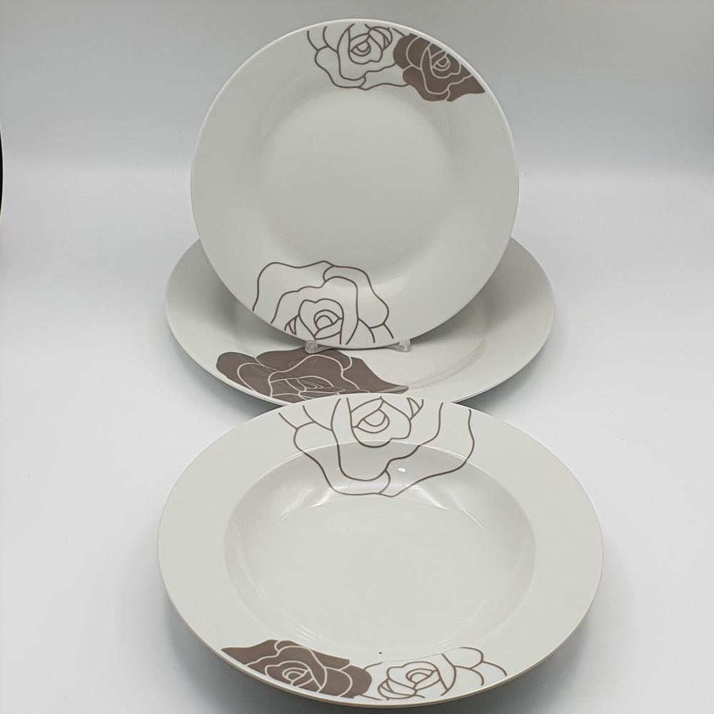 servizio piatti roses tortora