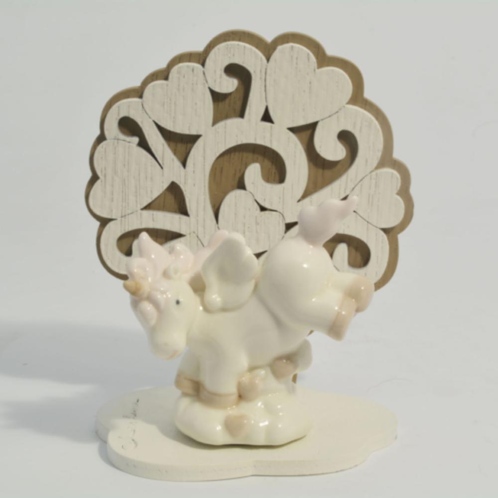 unicorno rosa albero