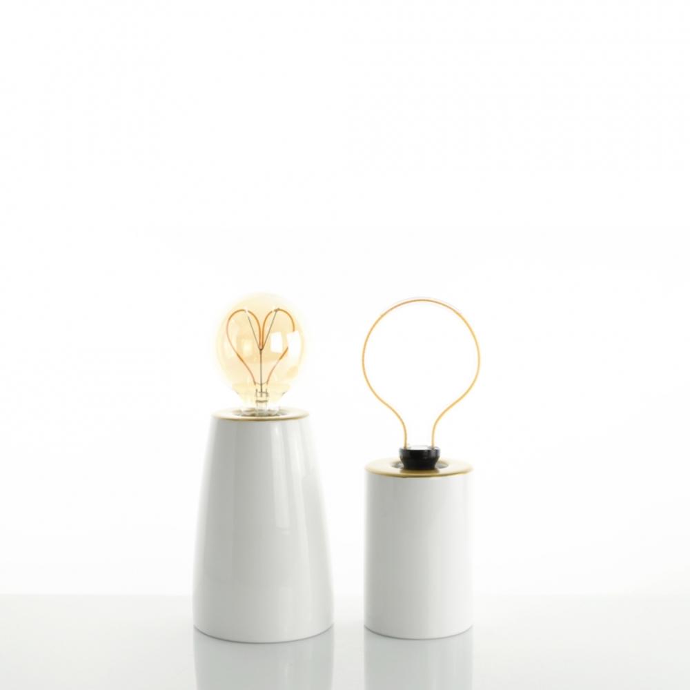 lampada minimal gold white