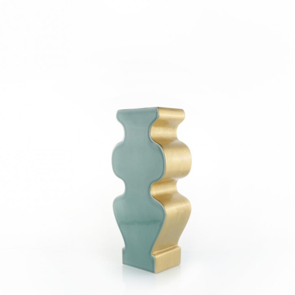 Vaso Sily Turquoise Gold