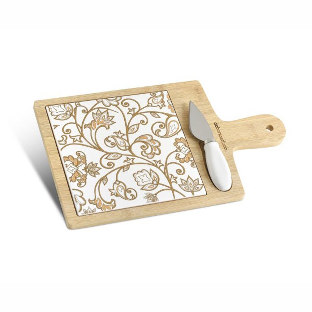 tagliere medio in bambù e ceramica