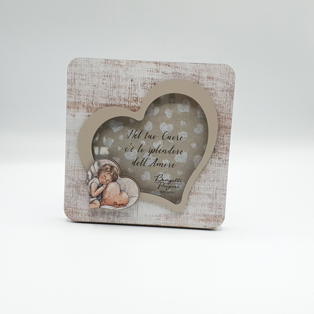 portafoto cuore Shabby Angel